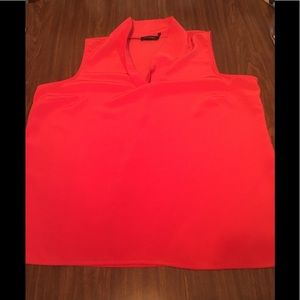 The Limited Sleeveless Red Orange Blouse in XL
